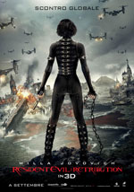 La locandina del film Resident Evil 5: Retribution