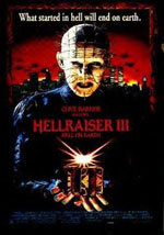 La locandina del film Hellraiser 3: Inferno sulla Terra