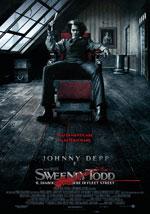 La locandina del film Sweeney Todd: il Diabolico Barbiere di Fleet Street