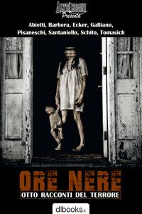 La copertina della raccolta horror Ore Nere