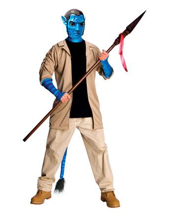Abito in maschera di halloween per uomo adulto da jake sully di avatar