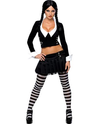 brillantezza del colore prese di fabbrica scegli genuino Halloween: costume per donna da Mercoledì Addams