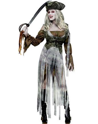 Halloween  costume per donna da Piratessa Zombie 176b28530c7b