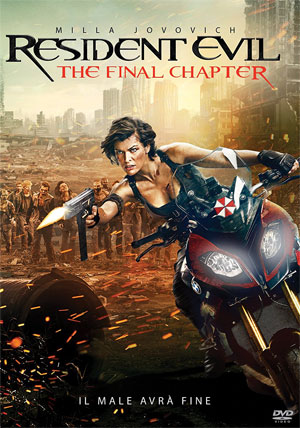 La copertina del DVD di Resident Evil: The Final Chapter