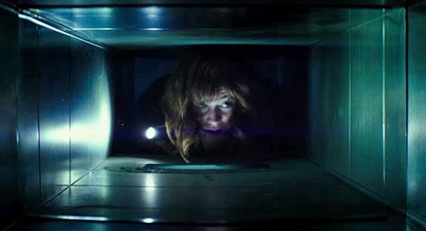 Un fotogramma del film horror 10 Cloverfield Lane
