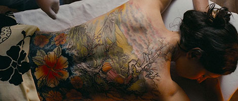 Un fotogramma del film horror The Tattoist (2007)