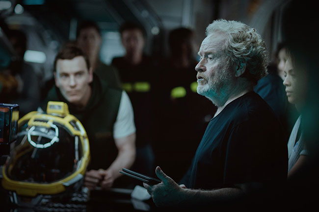 Un fotogramma del film horror del 2017 Alien: Covenant
