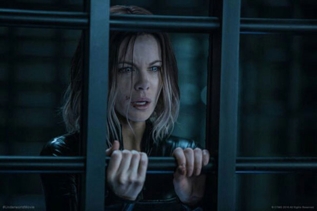 Un fotogramma del film horror del 2017 Underworld: Blood Wars