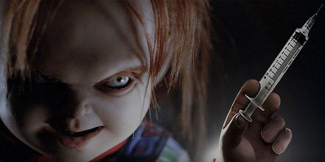 Un fotogramma del film horror Il Culto di Chucky
