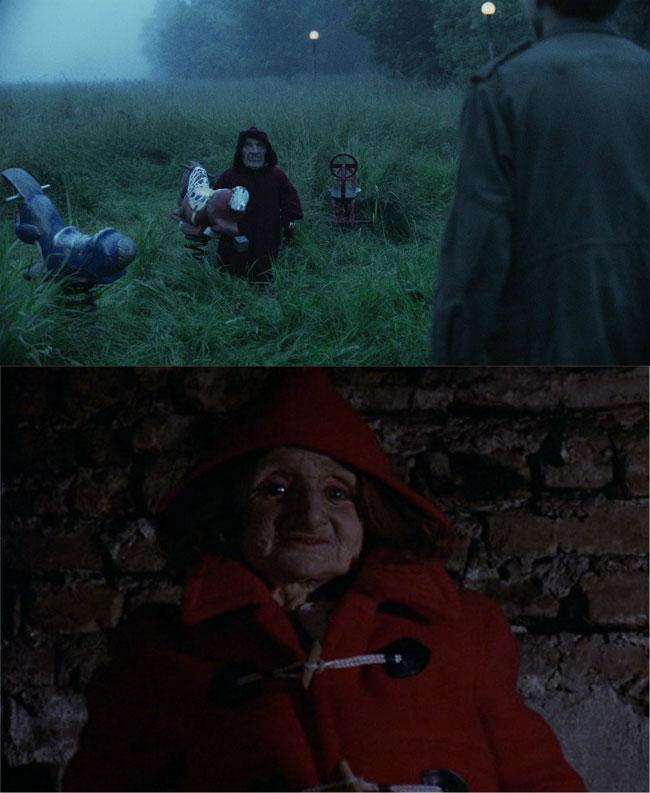 Nani in rosso in film horror