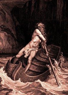 Caronte, il traghettatore delle anime dei morti