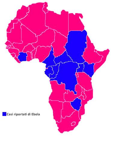 Virus Ebola: la diffusione