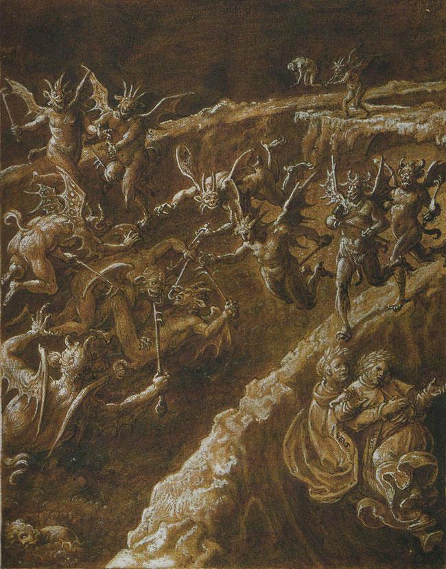 Giovanni Stradani, la Quinta Bolgia infernale