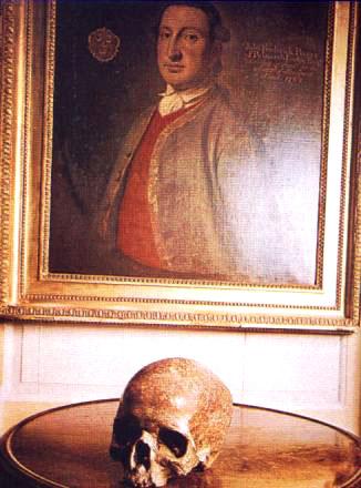 John Pinney, quadro e teschio