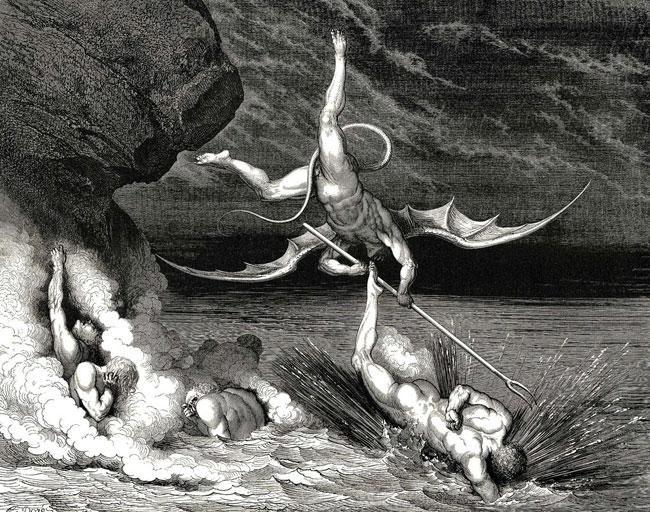 Gustave Dorè: Ciampolo sfugge ad Alichino