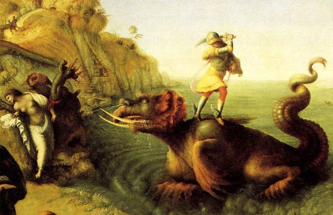 Perseo uccide Ceto e salva Andromeda
