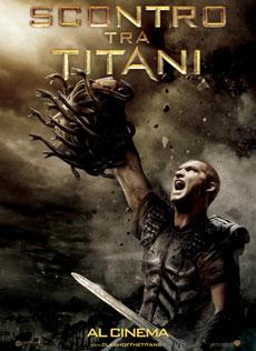 La locandina del film Scontro tra Titani