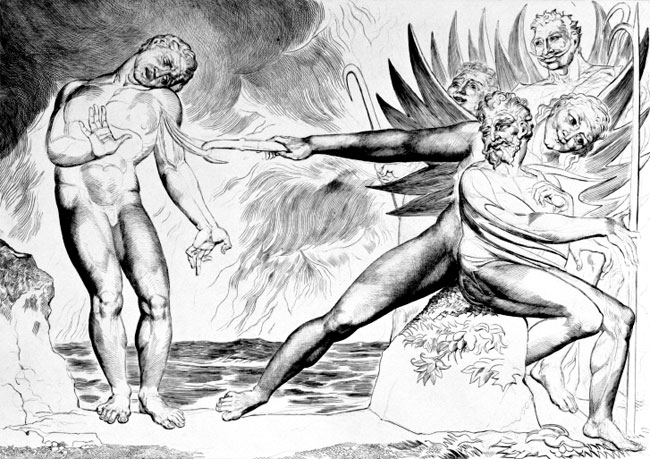 William Blake: Ciampolo e i Malebranche