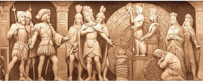 L'incontro tra Montezuma e Hernán Cortés
