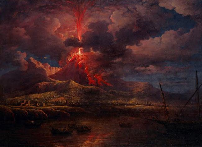 Un altro dipindo dedicato all'eruzione del Vesuvio