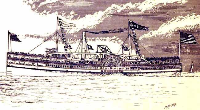 Un'immagine della nave a vapore PS General Slocum