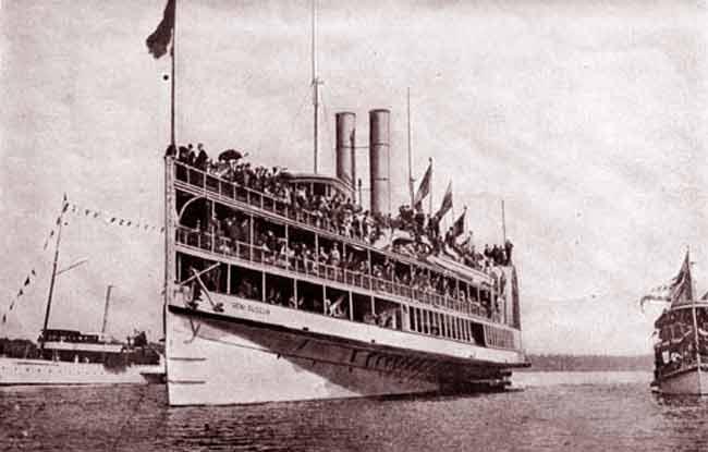 La prua della nave General Slocum