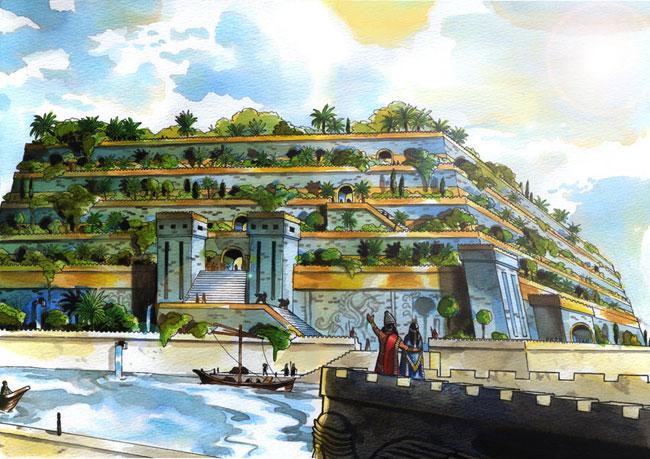 Un'illustrazione dei Giardini Pensili di Babilonia