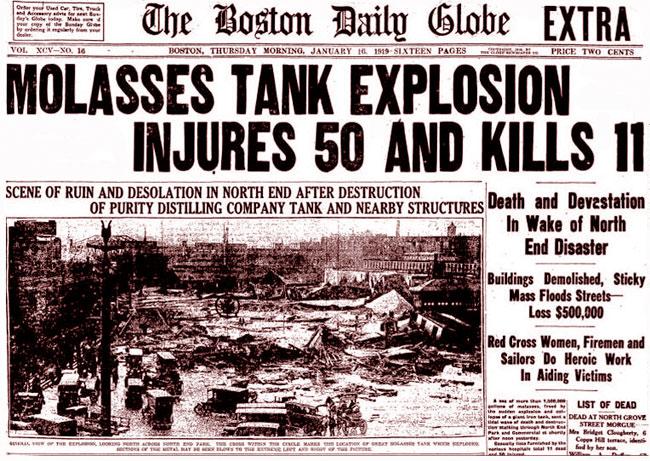 Il titolo sul Boston Daily Globe