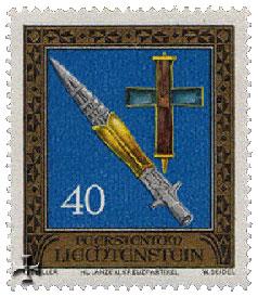 Un francobollo dedicato alla lancia del Destino