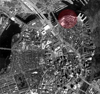 L'area di Boston dove si trovava il serbatoio