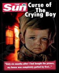 Illustrazione del SUN sui quadri maledetti dei weeping boys