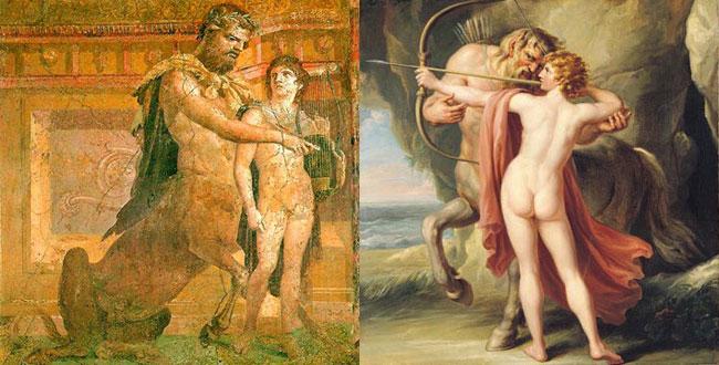 Achille e il suo tutore, il centauro Chirone