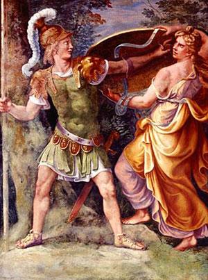 Achille con la madre Teti