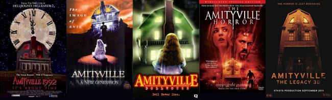 Le locandine degli ultimi 5 film su Amityville Horror