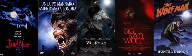 Locandine di film horrro con lupi mannari