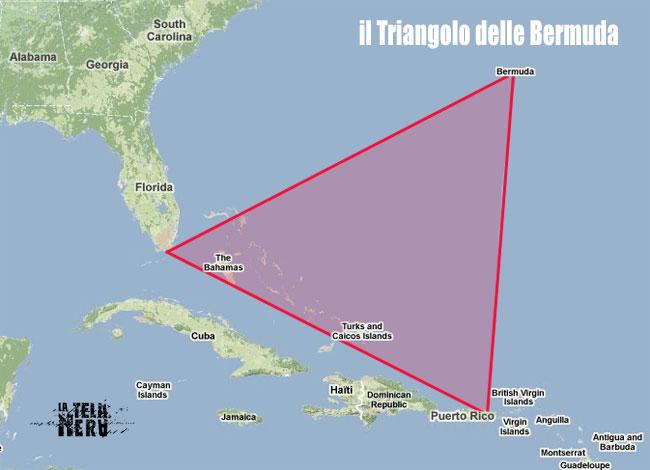Le aree comprese nel Triangolo delle Bermuda
