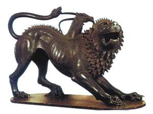 La Chimera di Arezzo, manufatto etrusco