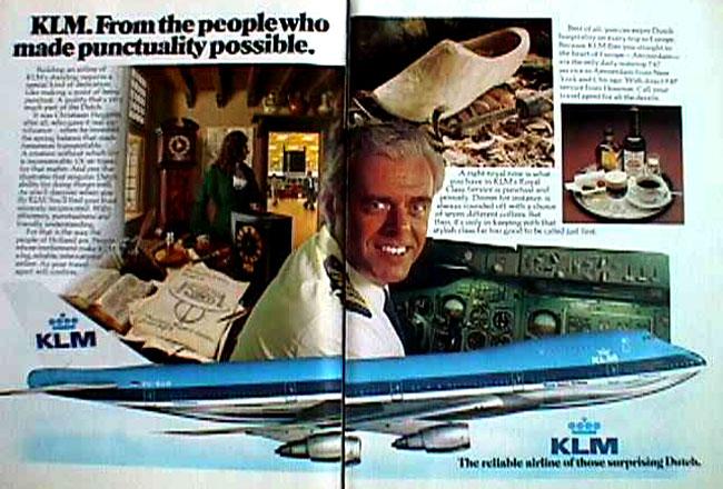 La pubblicità della KLM con Van Zanten