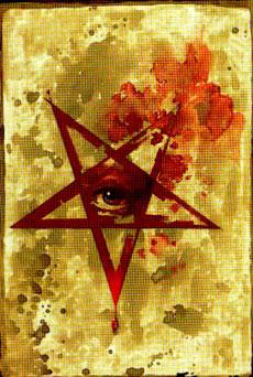 Un pentagramma rovesciato, altro simbolo magico...