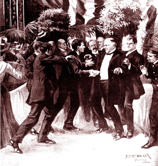 Un'immagine con la morte di William McKinley