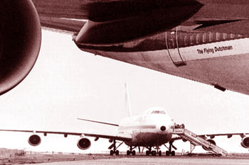 I due boeing KLM e Pan Am vicini