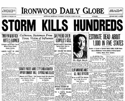 Il disastro narrato dai giornali