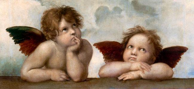 I Cherubini dipindi da Raffaello