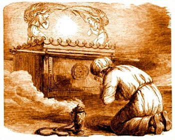 Illustrazione dell'Arca dell'Alleanza con i due cherubini