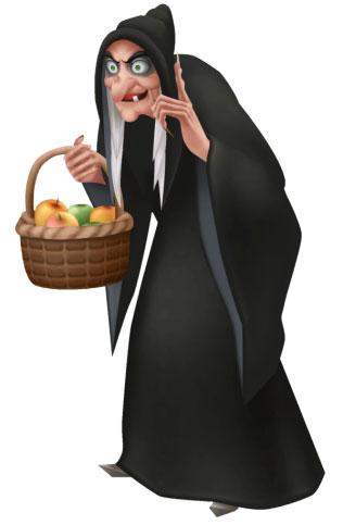 La strega cattiva del cartone animato di Biancaneve