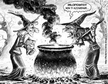 Una vignetta divertente sul mondo delle streghe