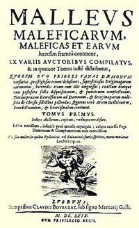 La copertina di un'edizione del XVII secolo del Malleus Maleficarum