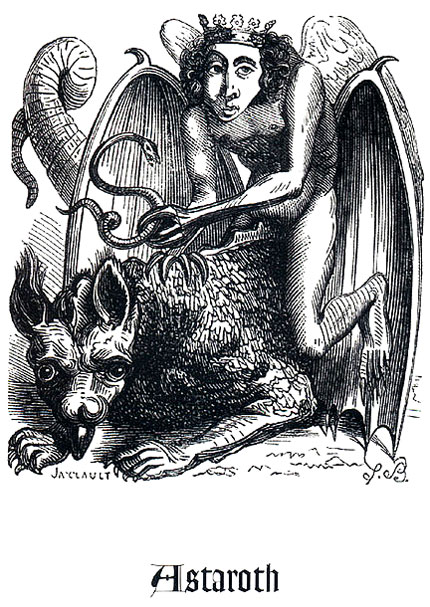 Astaroth a cavallo del suo drago