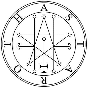 Il sigillo di Astaroth nella Goetia