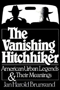 La copertina del libro The vanishing hitchhiker – American urban legends & their meanings